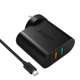 AUKEY PA-T13 2-Port / 33W Wall Charger with QC 3.0 (AU Plug)