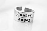 Angel or Hunter Hand Stamped Rings