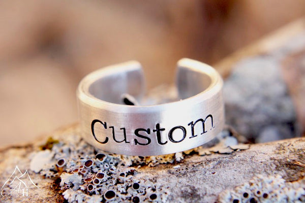 Custom Hand Stamped Ring