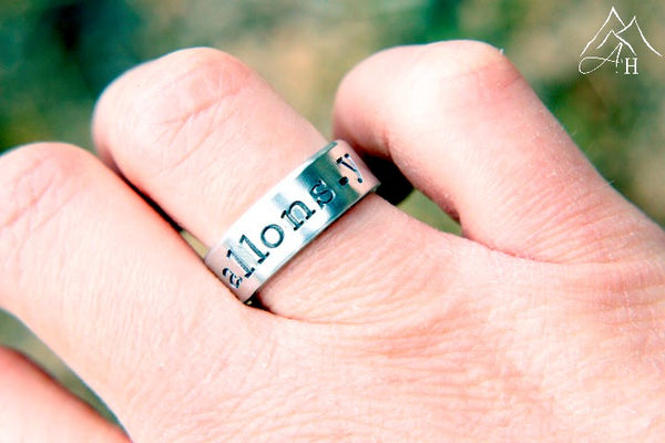 Allons-y Hand Stamped Ring