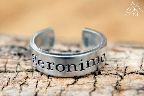 Geronimo Hand Stamped Ring