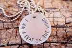 Firefly I Am A Leaf On The Wind Hand Stamped Necklace by Appalachian Hammer, Jewelry