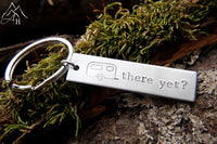 RV There Yet Hand Stamped Camper Key Chain, Camping, Camper Puns, Camping accessories, Appalachian Hammer, Jewelry