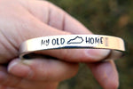My Old Kentucky Home Hand Stamped Cuff Bracelet By Appalachian Hammer, Jewelry