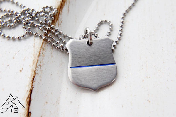 officers htm police photo necklace friend officer wife email a p badge rose pendant larger blue s