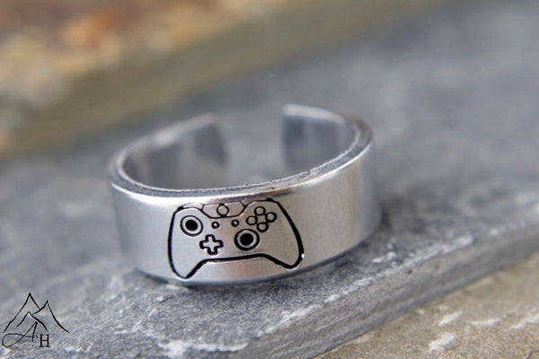 Game Controller Xbox One Shop Exclusive Hand Stamped Ring