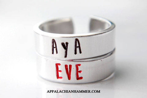 Parasite Eve Hand Stamped Rings