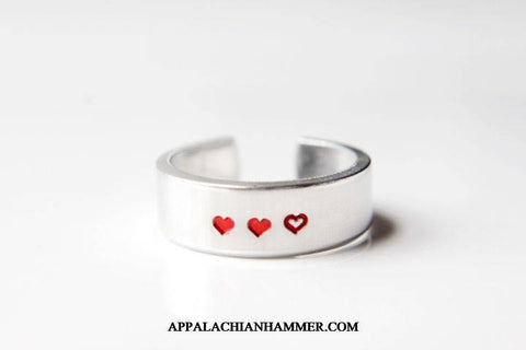 Heart Meter Adjustable Aluminum Ring