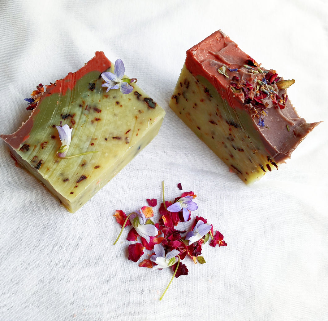 WILD VIOLET & ROSE - Handcrafted Soap Bar