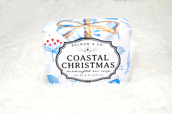 COASTAL CHRISTMAS Handcrafted Soap Bar