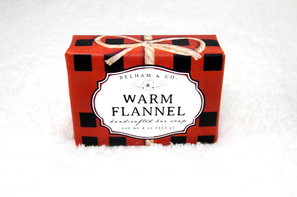 WARM FLANNEL Handcrafted Soap Bar