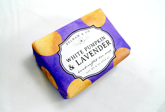 WHITE PUMPKIN & LAVENDER Soap