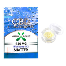 CBD Concentrate Shatter - 450MG Blueberry OG Flavored - By All Natural Way