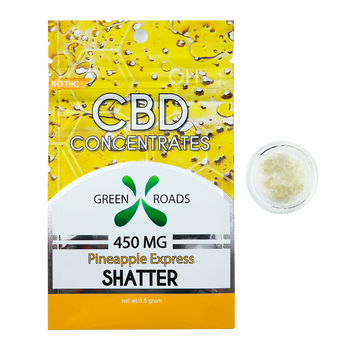 CBD Concentrate Shatter - 450MG Pineapple Express Flavored - By All Natural Way