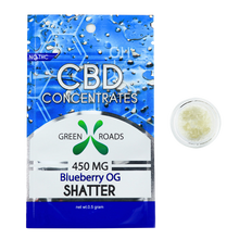 CBD  Shatter - 450MG Blueberry OG Flavored - By All Natural Way