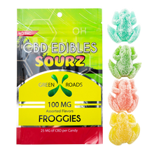 CBD Sour Gummies or Froggies - 100MG - By All Natural Way
