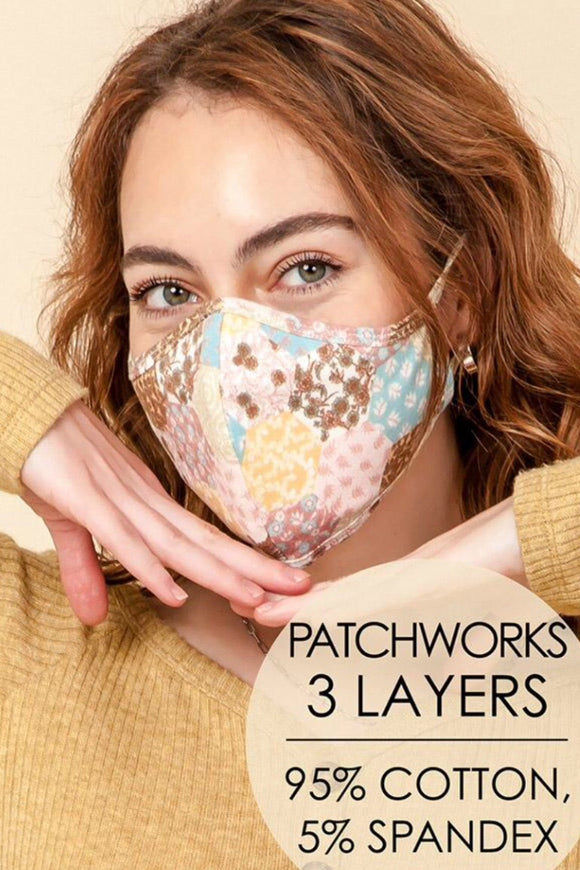 Patchwork  face mask