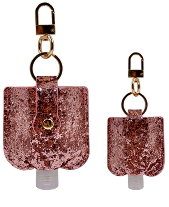Hand sanitizer keychain holder