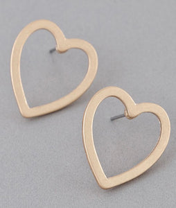 Heart eyes earrings