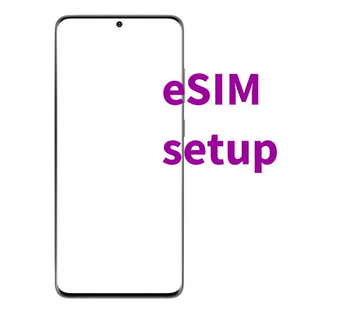 eSIM activation setup for Samsung Galaxy S20, S20+, S20 Ultra and later models