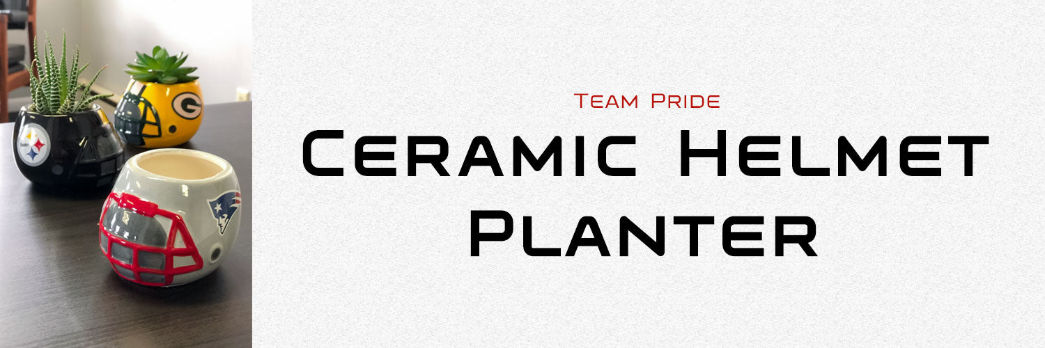 Team Pride Ceramic Helmet Planter