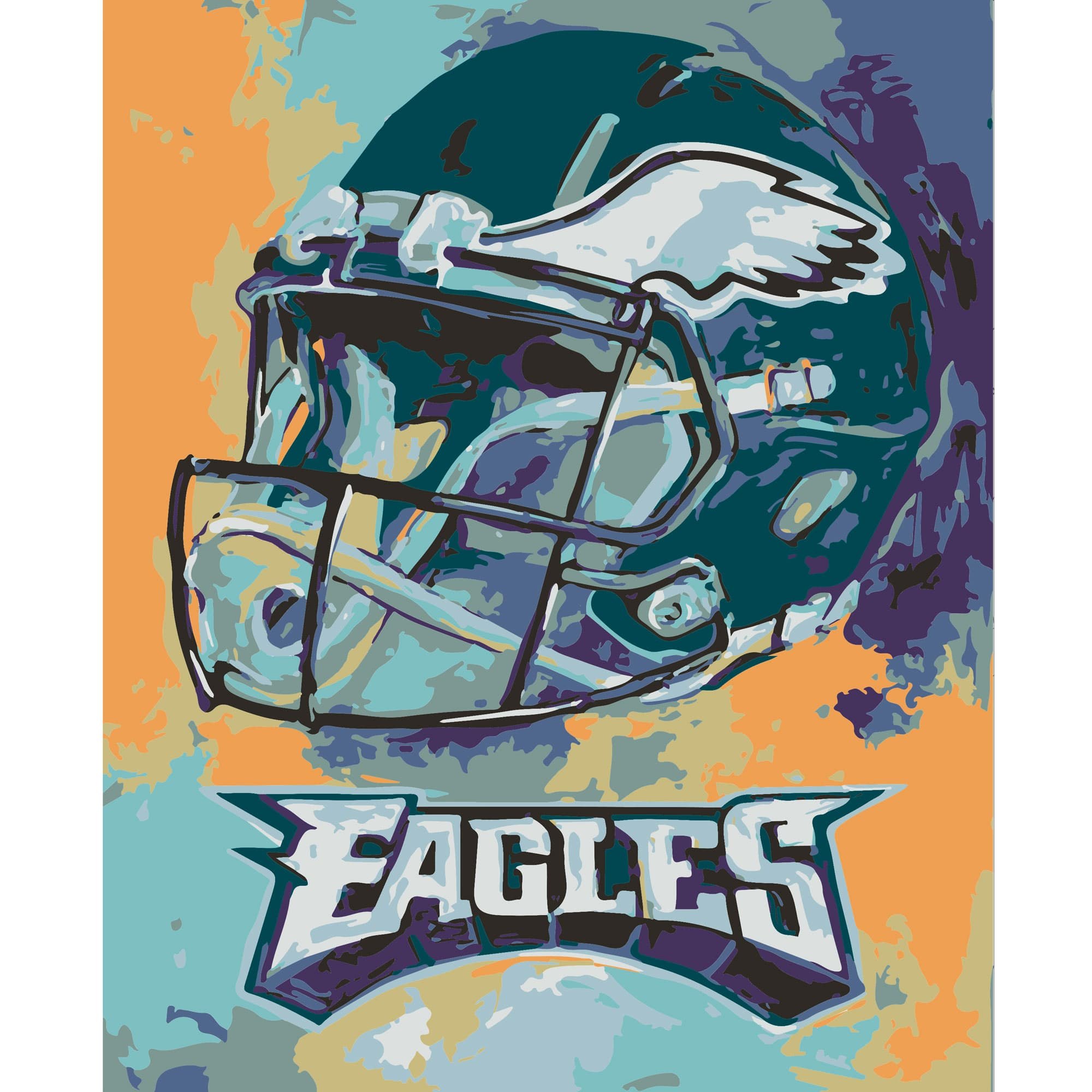 Sporticulture Team Pride Paint By Numbers Eagles