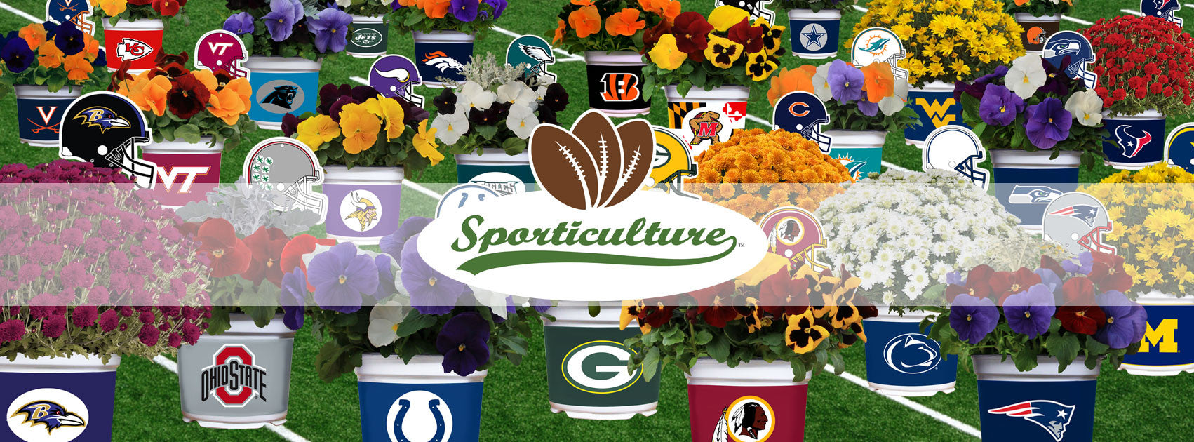 Sporticulture™ All Products Headed Image - Examples Of Many Sporticulture™ Flowers