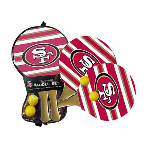 San Francisco 49ers - Team Pride Paddle Ball Set