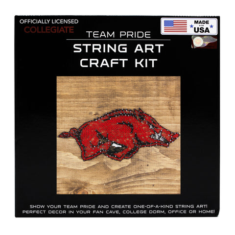 Arkansas Razorbacks - Team Pride String Art Kit