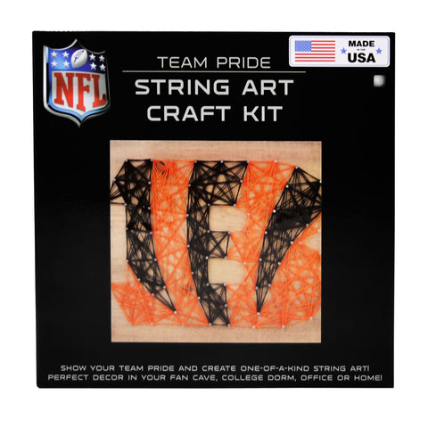 Cincinnati Bengals - Team Pride String Art Kit