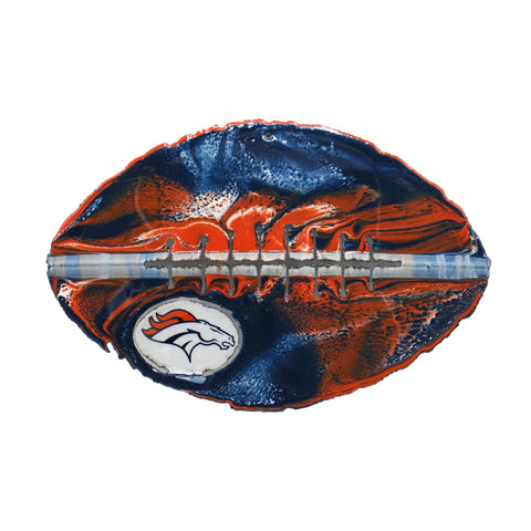 Denver Broncos - Team Pride Recycled Metal Wall Art Football