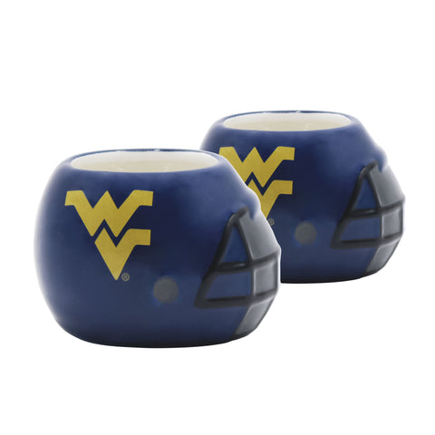 West Virginia Mountaineers - Ceramic Helmet Planter – Empty Planter <br> Pack Of Two