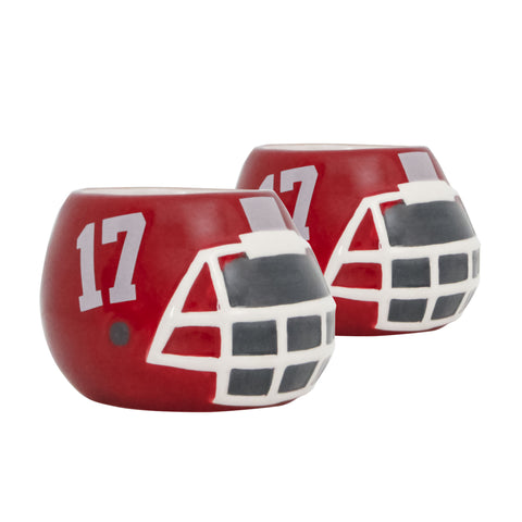 Alabama Crimson Tide - Ceramic Helmet Planter – Empty Planter - Pack Of Two