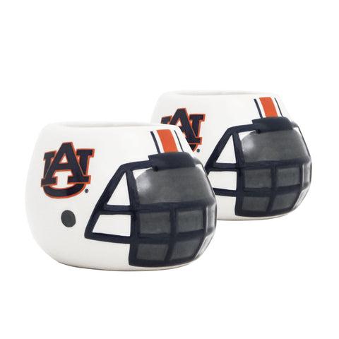 Auburn Tigers - Ceramic Helmet Planter – Empty Planter - Pack Of Two