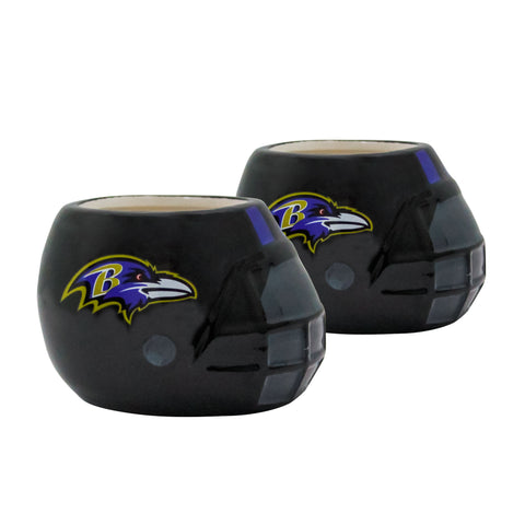 Baltimore Ravens - Ceramic Helmet Planter – Empty Planter - Pack Of Two