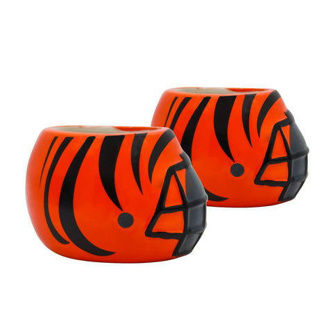 Cincinnati Bengals - Ceramic Helmet Planter – Empty Planter - Pack Of Two