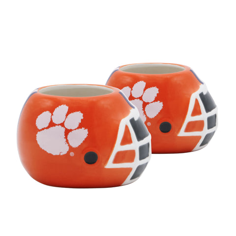 Clemson Tigers - Ceramic Helmet Planter – Empty Planter - Pack Of Two