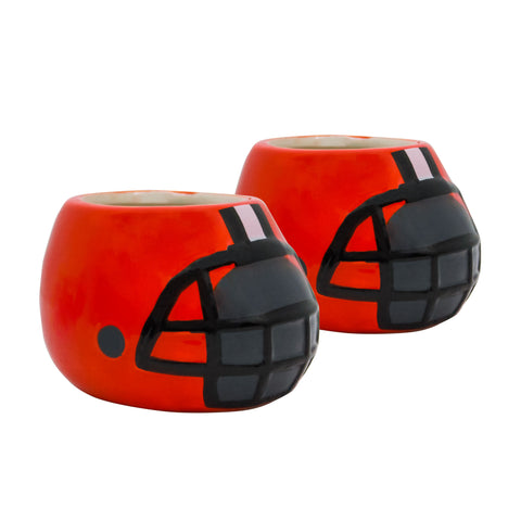 Cleveland Browns - Ceramic Helmet Planter – Empty Planter - Pack Of Two