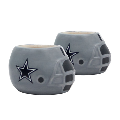 Dallas Cowboys - Ceramic Helmet Planter – Empty Planter - Pack Of Two