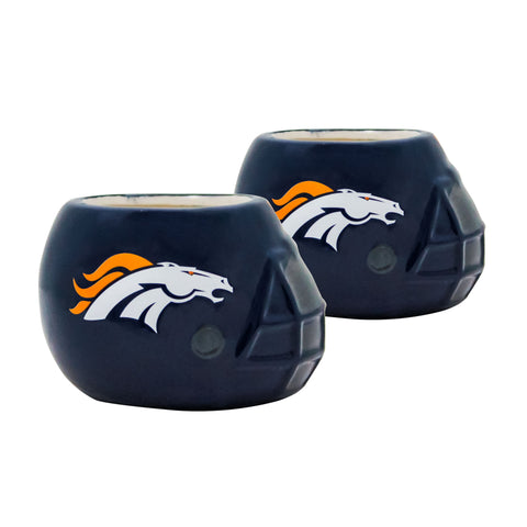 Denver Broncos - Ceramic Helmet Planter – Empty Planter - Pack Of Two