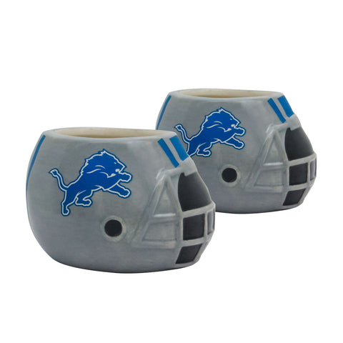 Detroit Lions - Ceramic Helmet Planter – Empty Planter - Pack Of Two