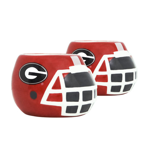 Georgia Bulldogs - Ceramic Helmet Planter – Empty Planter - Pack Of Two