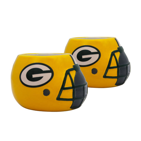Green Bay Packers - Ceramic Helmet Planter – Empty Planter - Pack Of Two