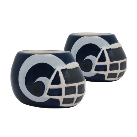 Los Angeles Rams - Ceramic Helmet Planter – Empty Planter - Pack Of Two