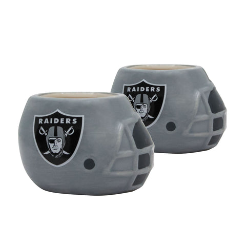 Las Vegas Raiders - Ceramic Helmet Planter – Empty Planter - Pack Of Two