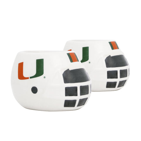 University Of Miami Hurricanes - Ceramic Helmet Planter – Empty Planter <br> Pack Of Two