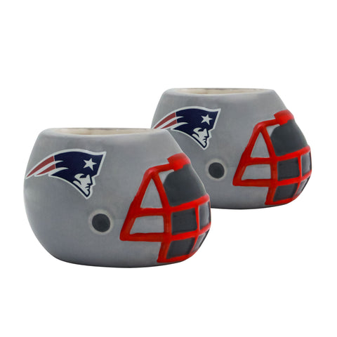 New England Patriots - Ceramic Helmet Planter – Empty Planter - Pack Of Two