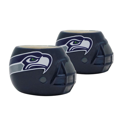 Seattle Seahawks - Ceramic Helmet Planter – Empty Planter - Pack Of Two