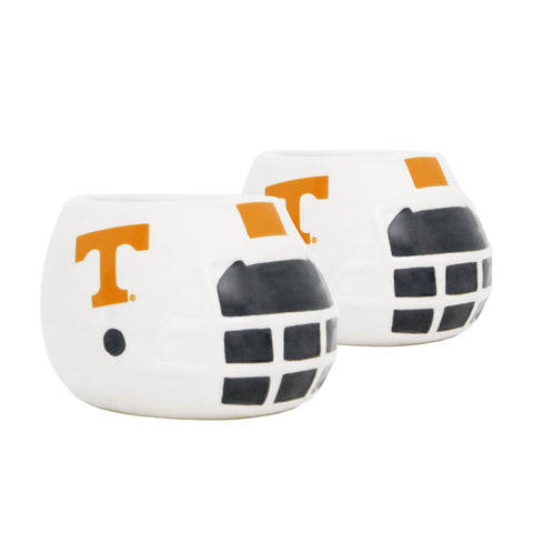 Tennessee Volunteers - Ceramic Helmet Planter – Empty Planter - Pack Of Two