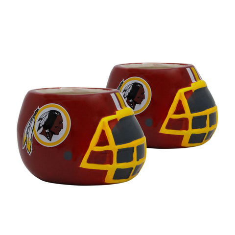 Washington Redskins - Ceramic Helmet Planter – Empty Planter - Pack Of Two